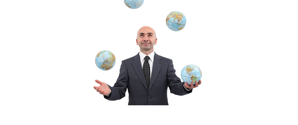 Man juggling globes - Market Agility Is Critical with a Dynamic Geopolitical Landscape